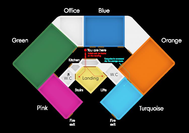 Floor plan of building